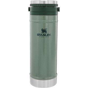Stanley The Classic Travel Mug French Press 0,47L, Hammertone Zelena, Vakuumsko